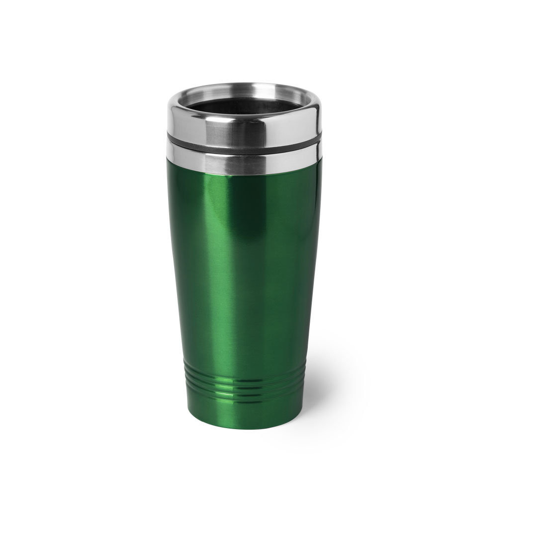 RVS Warmhoudbeker-warm houd beker metallic groen 450 ml