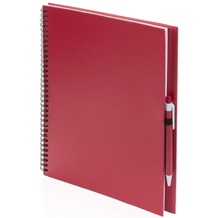 Schetsboek-tekenboek rood A4 formaat 80 vellen inclusief pen