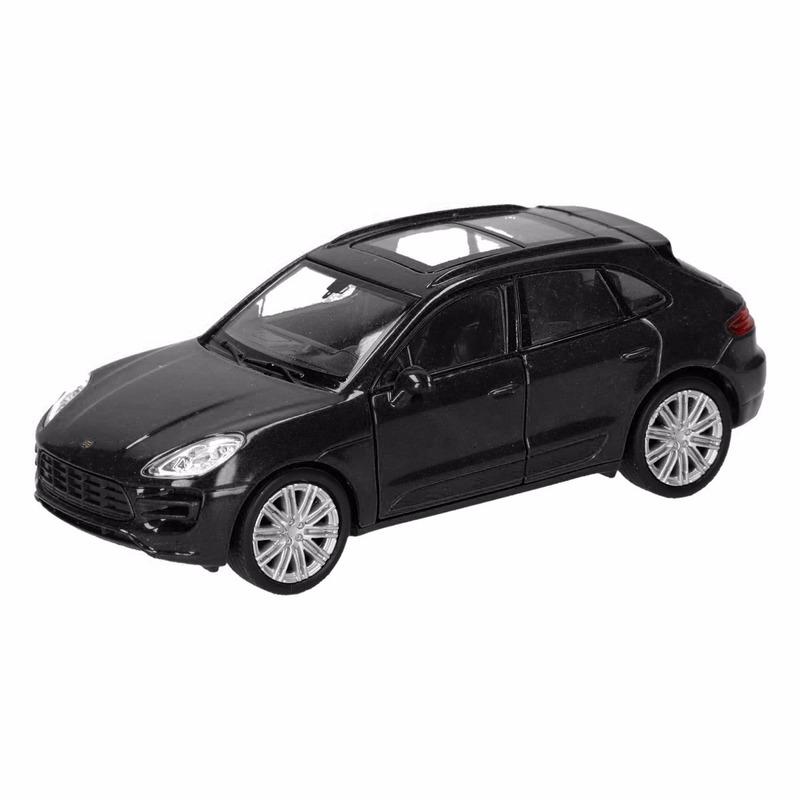 Speelgoed zwarte Porsche Macan Turbo auto 12 cm