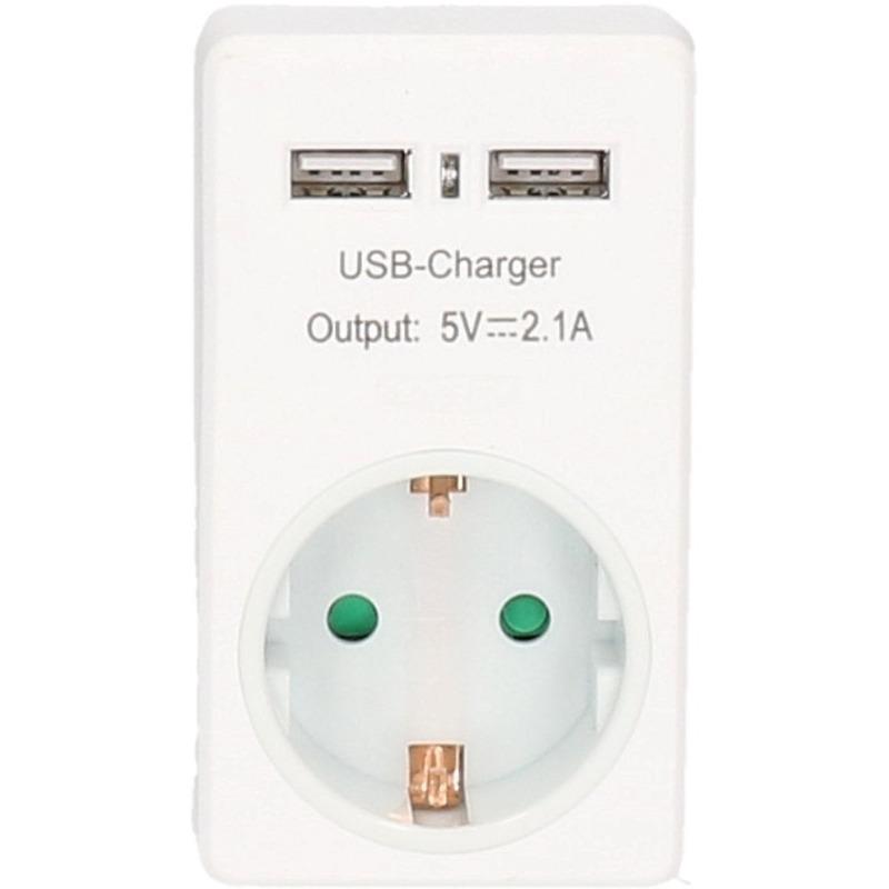 Stopcontact met 2x USB poort-snel lader