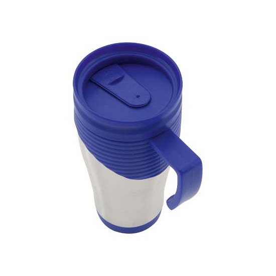 Thermo koffiebeker 400 ml blauw