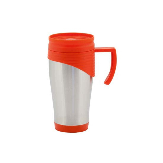 Thermo koffiebeker 400 ml rood