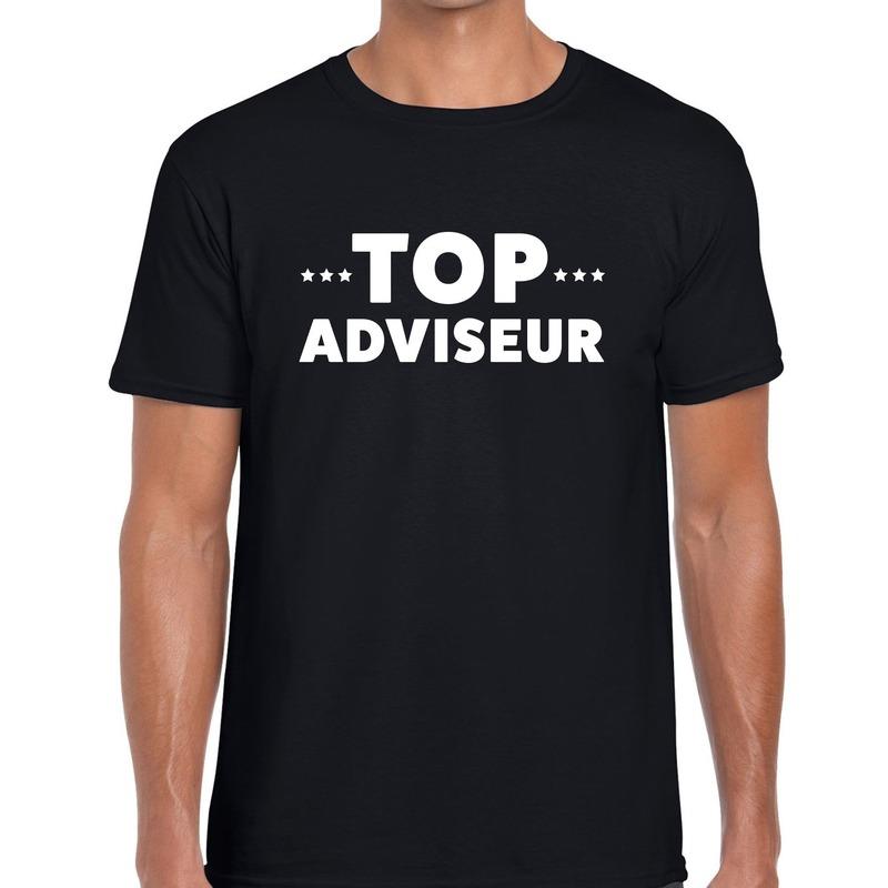 Top adviseur beurs-evenementen t-shirt zwart heren