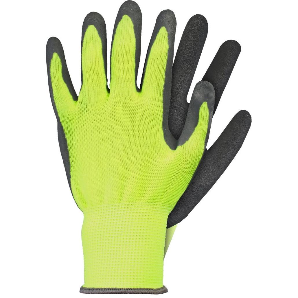 Tuinwerkhandschoenen-werkhandschoenen geel latex