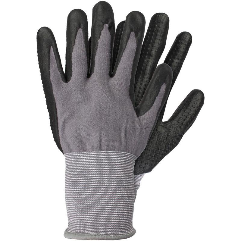 Tuinwerkhandschoenen-werkhandschoenen grijs-zwart