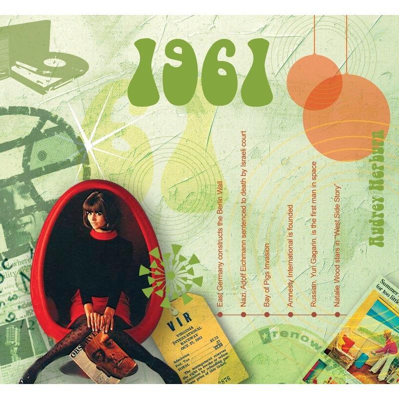 Verjaardagskaart 60 jaar met muziek uit 1961