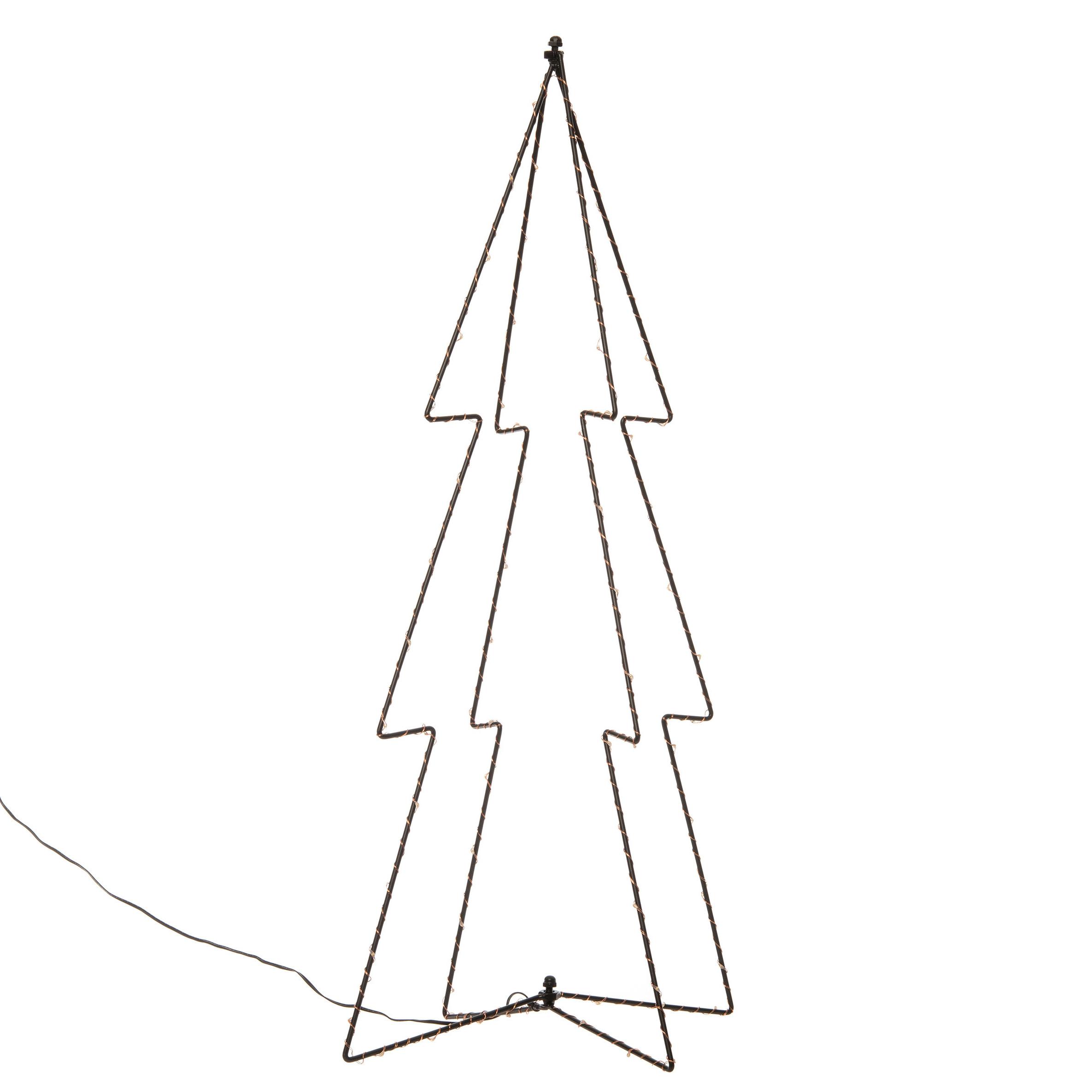 Verlichte figuren 3D kerstbomen-lichtbomen 72 cm voor buiten