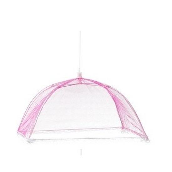 Vliegenkap roze voor voedsel 36 cm