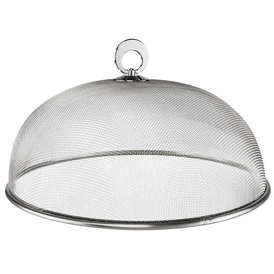 Vliegenkap zilver voor voedsel 30 cm voedselkap