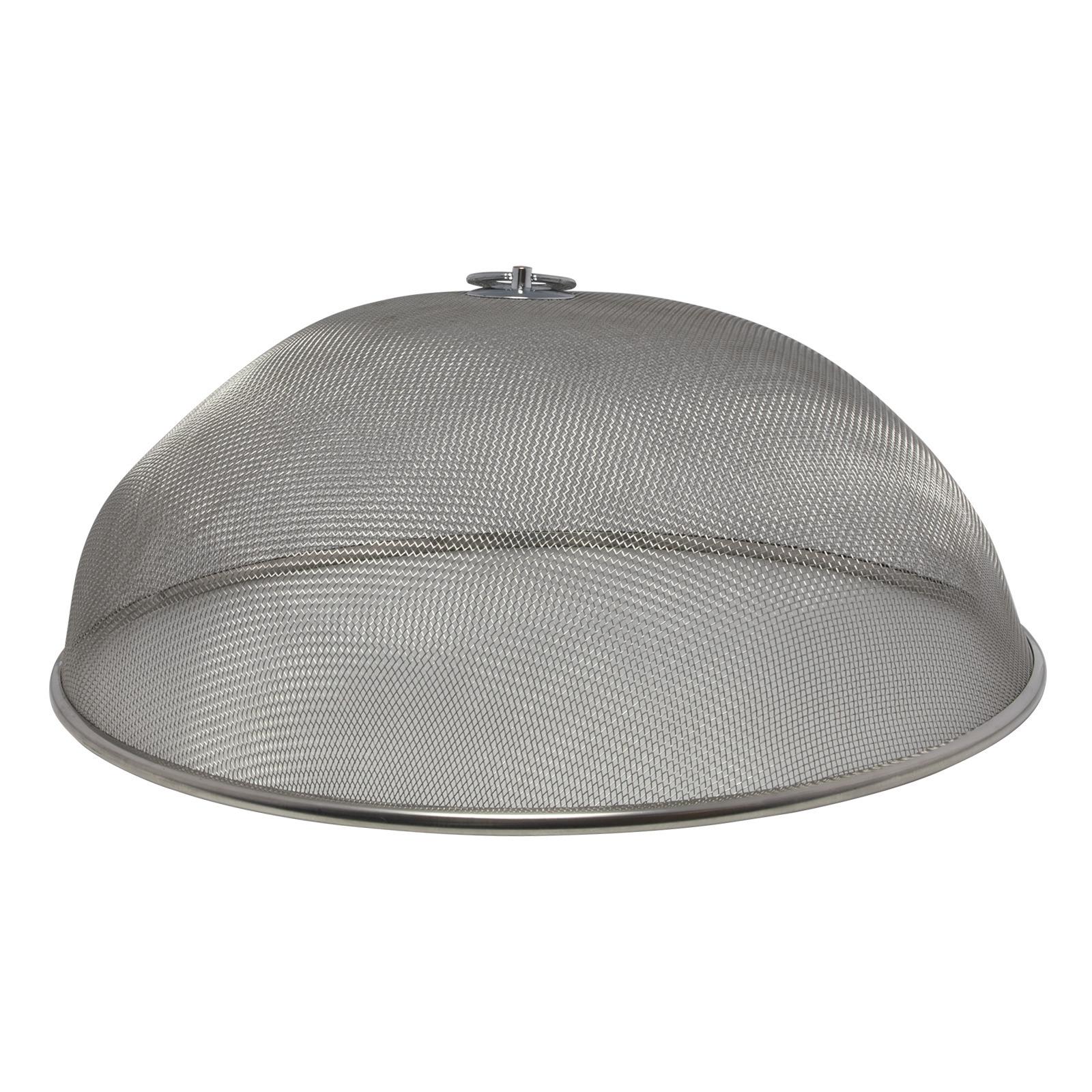 Vliegenkappen zilver voor voedsel 35 cm voedselkap
