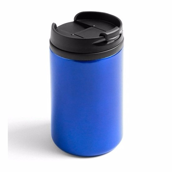 Warmhoudbeker metallic blauw 320 ml