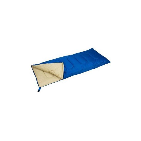 Zomer kampeer 1 persoons slaapzak dekenmodel kobalt blauw 210 x 85 cm