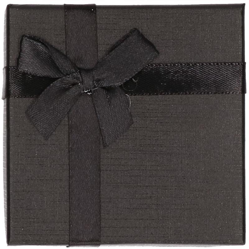 Zwart sieradendoosje-cadeaudoosje 9 x 9 cm