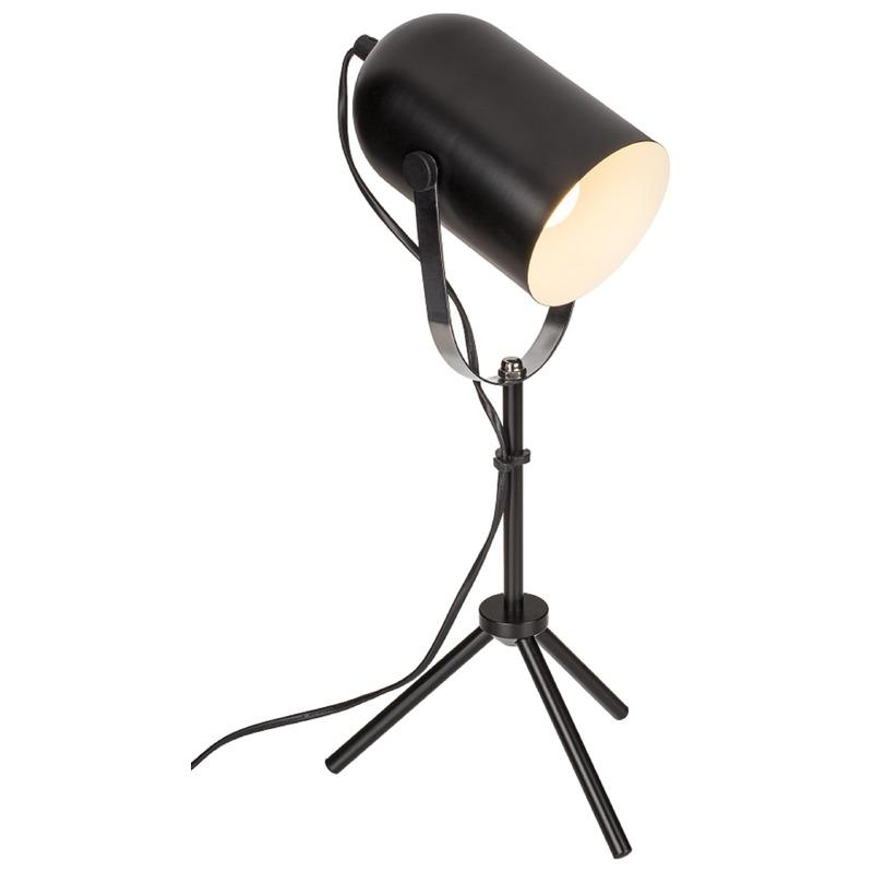 Zwarte retro bureaulamp-leeslamp metaal 52 cm
